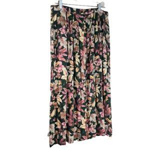VTG Susan Bristol Maxi Rayon Pockets Skirt 16